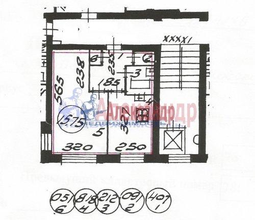 1-комнатная квартира (32м2) на продажу по адресу Искровский пр., 35— фото 13 из 13