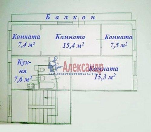 4-комнатная квартира (60м2) на продажу по адресу Турку ул., 23— фото 3 из 19