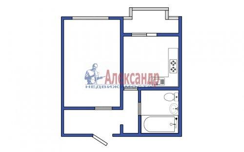 1-комнатная квартира (35м2) на продажу по адресу Парашютная ул.— фото 2 из 3
