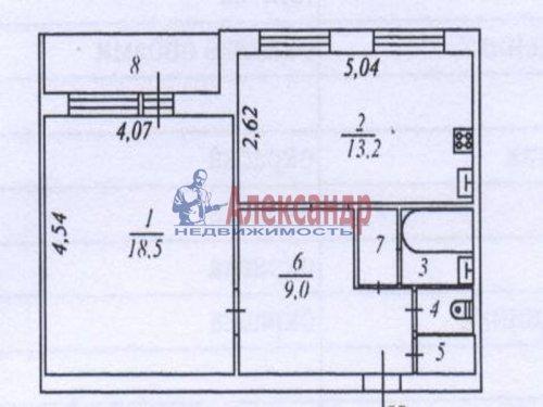 1-комнатная квартира (46м2) на продажу по адресу Новое Девяткино дер., Флотская ул., 8— фото 1 из 8