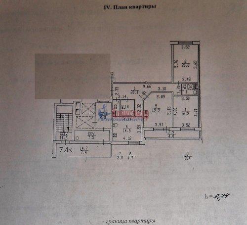 3-комнатная квартира (101м2) на продажу по адресу Науки пр., 17— фото 28 из 33