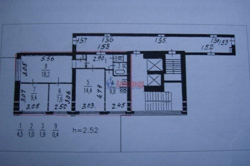 4-комнатная квартира (67м2) на продажу по адресу Московское шос., 6— фото 2 из 5