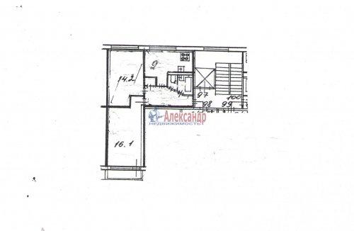 2-комнатная квартира (51м2) на продажу по адресу Тельмана ул., 28— фото 6 из 6