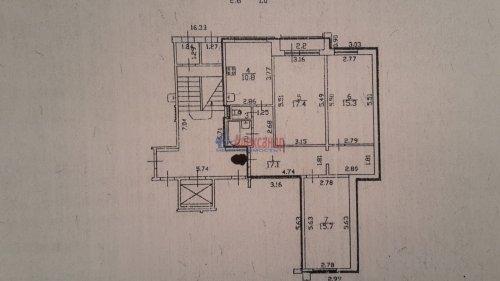 3-комнатная квартира (80м2) на продажу по адресу Шуваловский пр., 51— фото 5 из 9
