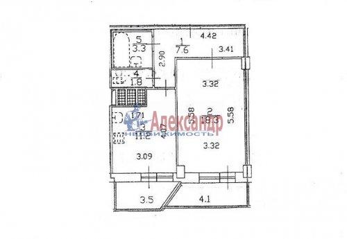 1-комнатная квартира (42м2) на продажу по адресу Шуваловский пр., 37— фото 9 из 14