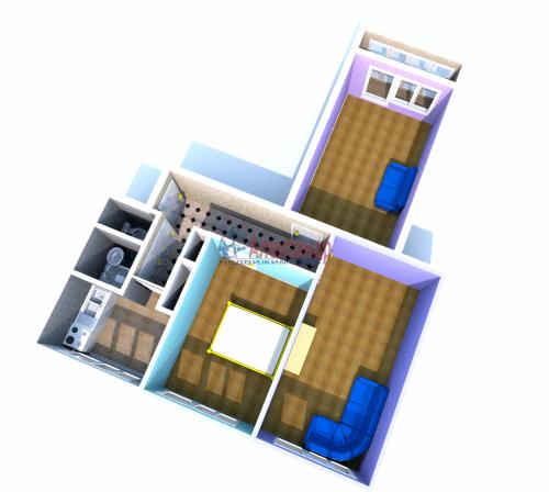 3-комнатная квартира (61м2) на продажу по адресу Черкасова ул., 19— фото 4 из 10