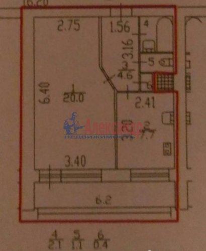 1-комнатная квартира (36м2) на продажу по адресу Софийская ул., 49— фото 2 из 6