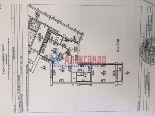2-комнатная квартира (77м2) на продажу по адресу Александра Матросова ул., 20— фото 3 из 9