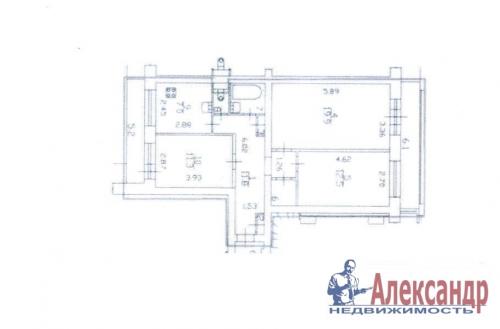 3-комнатная квартира (69м2) на продажу по адресу Бухарестская ул., 23— фото 11 из 11