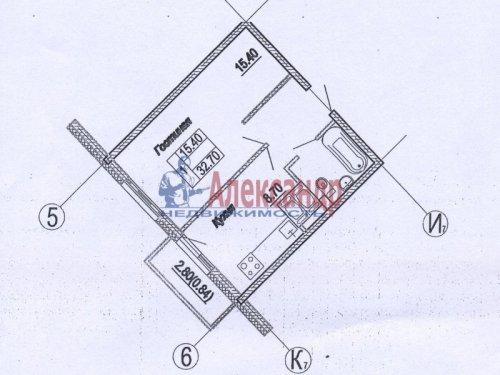 1-комнатная квартира (32м2) на продажу по адресу Шушары пос., Новгородский просп., 10— фото 1 из 2