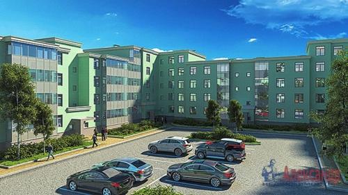 1-комнатная квартира (43м2) на продажу по адресу Сертолово-2 пос., Мира ул., 13— фото 1 из 4