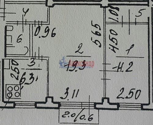 2-комнатная квартира (46м2) на продажу по адресу Металлистов пр., 90— фото 12 из 12