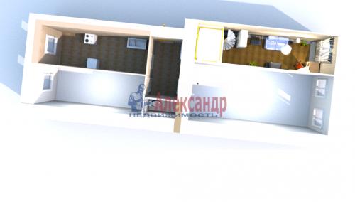 Комната в 3-комнатной квартире (68м2) на продажу по адресу Уральская ул., 15— фото 1 из 12