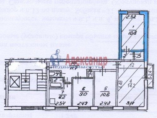 Комната в 4-комнатной квартире (73м2) на продажу по адресу Коммуны ул., 28— фото 19 из 19