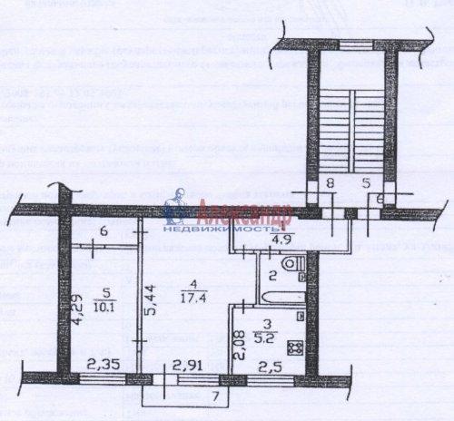 2-комнатная квартира (43м2) на продажу по адресу Назия пос., Октябрьская ул., 6— фото 5 из 5