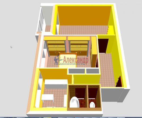 2-комнатная квартира (44м2) на продажу по адресу Композиторов ул., 24— фото 4 из 16