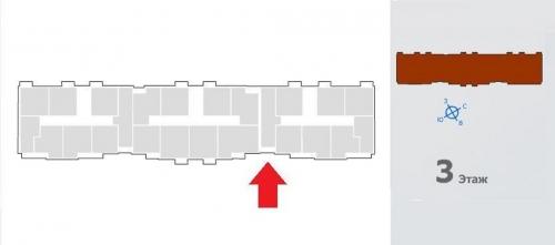 1-комнатная квартира (38м2) на продажу по адресу Щеглово пос., Центральная ул., 3— фото 6 из 6
