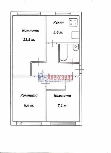Комната в 3-комнатной квартире (42м2) на продажу по адресу Подводника Кузьмина ул., 2— фото 3 из 4