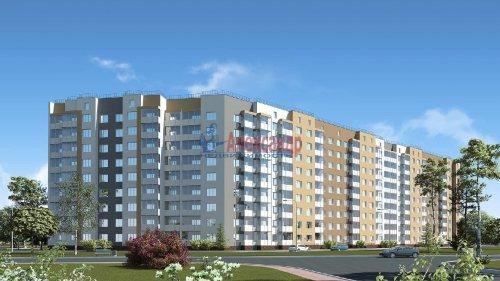 2-комнатная квартира (69м2) на продажу по адресу Гатчина г., Красных Военлетов ул., 1— фото 1 из 2