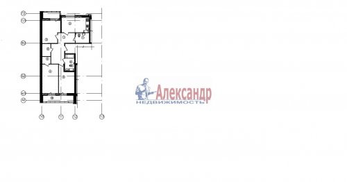 3-комнатная квартира (88м2) на продажу по адресу Реки Смоленки наб., 3— фото 1 из 1