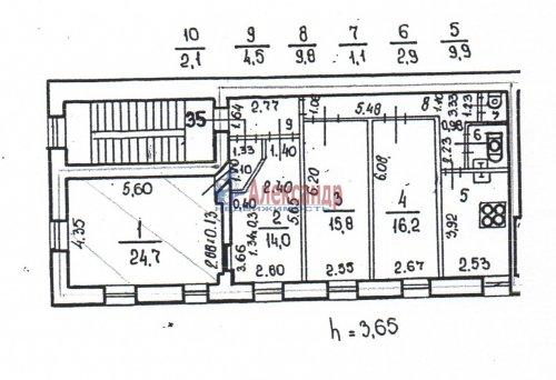 4-комнатная квартира (101м2) на продажу по адресу Куйбышева ул., 24— фото 2 из 2