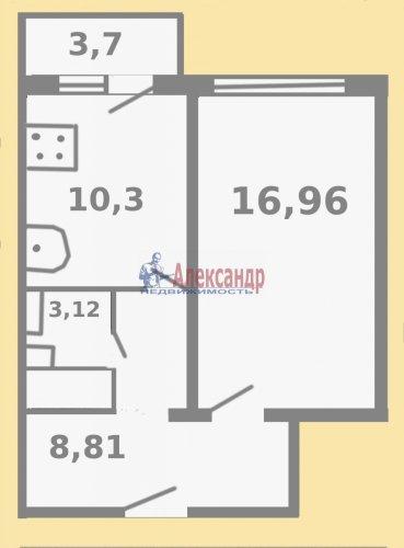 1-комнатная квартира (40м2) на продажу по адресу Чудновского ул., 6— фото 2 из 13