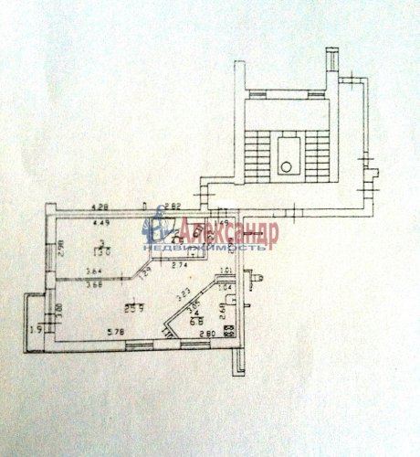 2-комнатная квартира (51м2) на продажу по адресу Сестрорецк г., Токарева ул., 12— фото 5 из 5