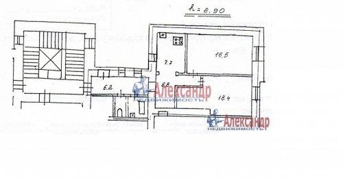 2-комнатная квартира (61м2) на продажу по адресу Кавалергардская ул., 20— фото 4 из 16