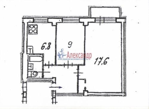 2-комнатная квартира (42м2) на продажу по адресу Энергетиков пр., 46— фото 15 из 15