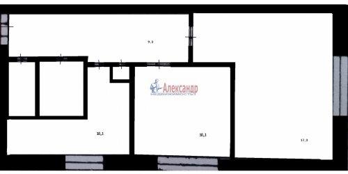 2-комнатная квартира (50м2) на продажу по адресу Загребский бул., 33— фото 4 из 10