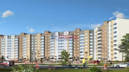 2-комнатная квартира (69м2) на продажу по адресу Гатчина г., Красных Военлетов ул., 1— фото 2 из 2