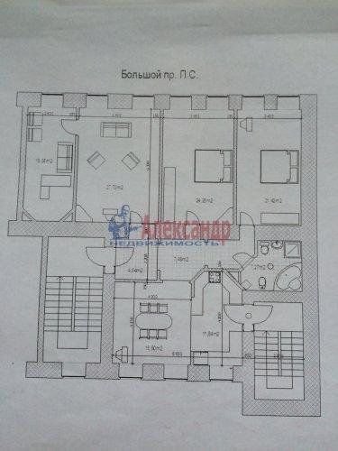 4-комнатная квартира (143м2) на продажу по адресу Большой пр., 63— фото 26 из 27