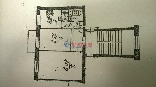 2-комнатная квартира (54м2) на продажу по адресу Всеволода Вишневского ул., 1— фото 1 из 4