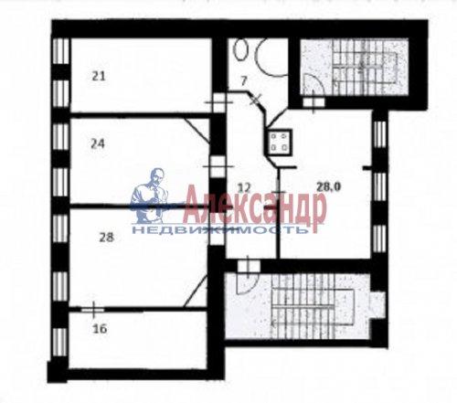 4-комнатная квартира (143м2) на продажу по адресу Большой пр., 63— фото 27 из 27