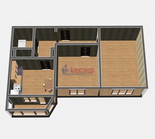 2-комнатная квартира (54м2) на продажу по адресу Осиновая Роща пос., Приозерское шос., 14— фото 4 из 17