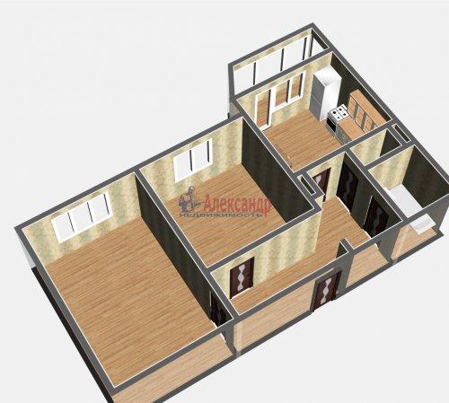 2-комнатная квартира (54м2) на продажу по адресу Осиновая Роща пос., Приозерское шос., 14— фото 5 из 17