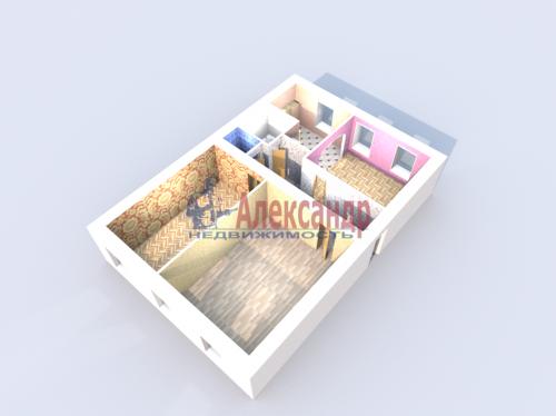 3-комнатная квартира (78м2) на продажу по адресу Кронштадт г., Владимирская ул., 19— фото 6 из 7