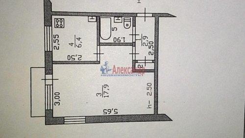1-комнатная квартира (31м2) на продажу по адресу Глебычево пос., 1— фото 1 из 4