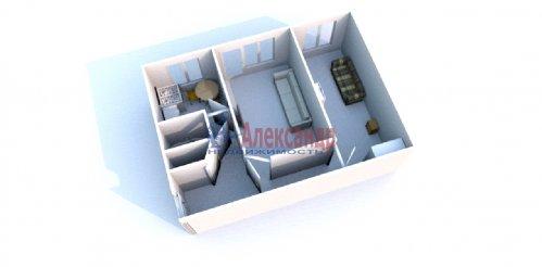 2-комнатная квартира (44м2) на продажу по адресу Петергоф г., Разведчиков бул., 14— фото 9 из 9