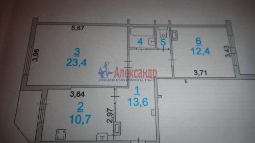 2-комнатная квартира (65м2) на продажу по адресу Сертолово г., Кленовая ул., 7— фото 8 из 8