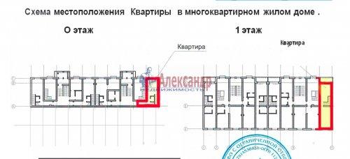 2-комнатная квартира (56м2) на продажу по адресу Мистолово дер., Центральная ул., 2— фото 13 из 14