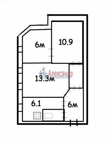 3-комнатная квартира (45м2) на продажу по адресу 6 Советская ул., 7— фото 1 из 7