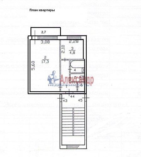 1-комнатная квартира (30м2) на продажу по адресу Оржицы дер., 13— фото 4 из 15