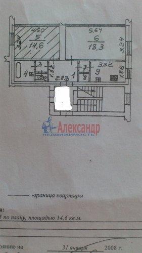 Комната в 2-комнатной квартире (52м2) на продажу по адресу Петергоф г., Санкт-Петербургский пр., 30— фото 9 из 9