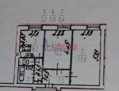2-комнатная квартира (51м2) на продажу по адресу Фрунзе ул., 23— фото 5 из 13