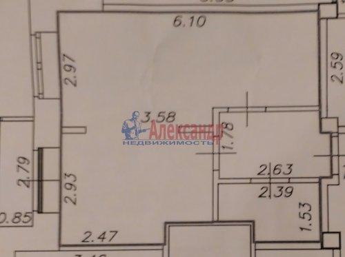 1-комнатная квартира (36м2) на продажу по адресу Кудрово дер., Ленинградская ул., 9— фото 13 из 13