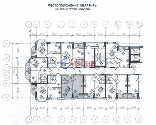 1-комнатная квартира (38м2) на продажу по адресу Парголово пос., Федора Абрамова ул., 8— фото 2 из 2