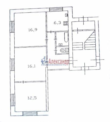 3-комнатная квартира (63м2) на продажу по адресу Кировск г., Комсомольская ул., 6— фото 13 из 13