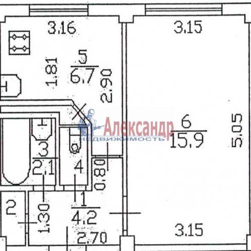 1-комнатная квартира (31м2) на продажу по адресу Дальневосточный пр., 80— фото 15 из 15