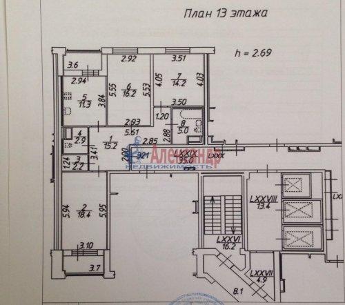 3-комнатная квартира (86м2) на продажу по адресу Пулковское шос., 38— фото 2 из 25